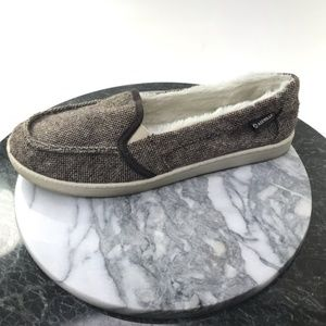 Airwalk Brown & White Fux Fur Lined Slip On Shoes